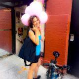 Irene with balloons